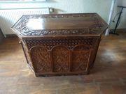 Bürotisch mit Stuhl aus Walnussholz