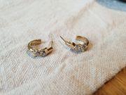 Vergoldete Ohrringe von Pierre Lang