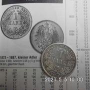 1 Reichsmark 1873 C kleiner