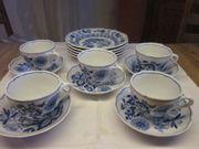 Hutschenreuther Kaffeeservice Zwiebelmuster kobaltblau