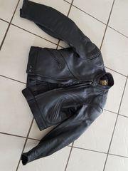Motorradjacke Leder Lederjacke Rennweste schwarz