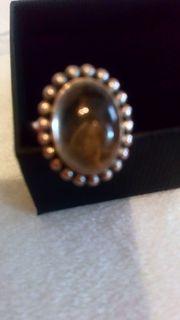 Rutilquarz Ring 925 Silber teilweise