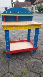 Kinderwerkbank aus Holz