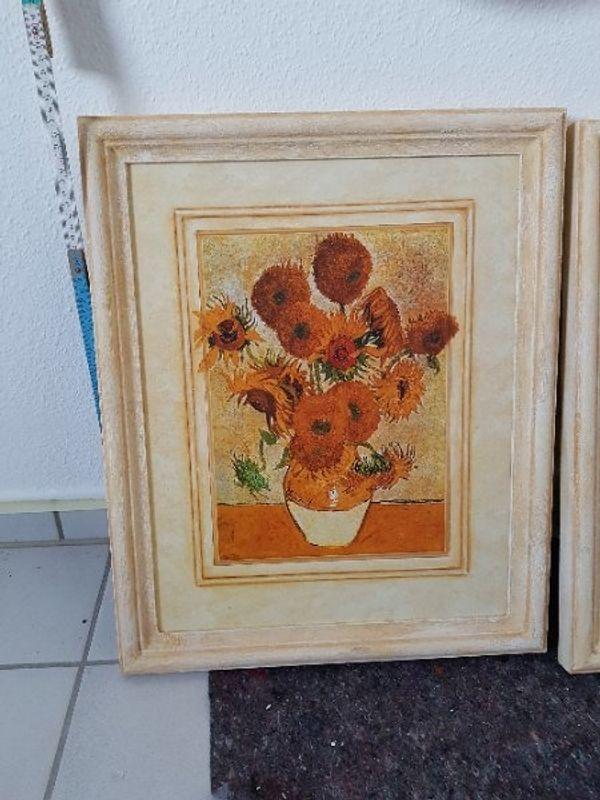 Blumenbilder im Rahmen
