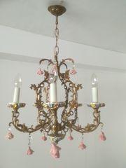 Kronleuchter 5 armig mit Rosendekor