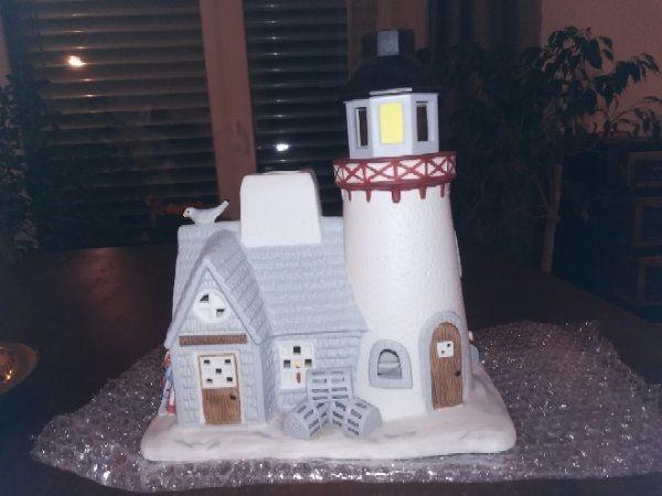 Parzylight Windlicht und Porzellanhäuschen