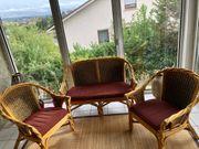 Bambus Sitzecke Wintergarten Möbel inkl