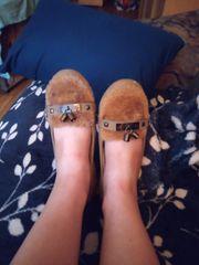 Oft getragene Schuhe