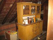 Alt antik 2-teiliges Küchenbuffet mit