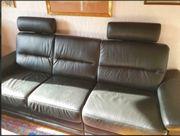 Neuwertiges Sofa echt Leder schwarz
