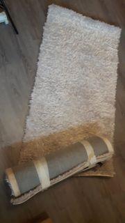 2 moderne Teppiche Läufer greige