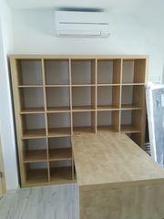 Regal und Schreibtisch IKEA