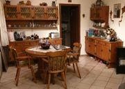 Esszimmer komplett Tisch Stühle Schränke