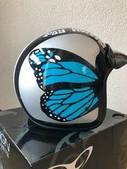 Helm Jet Classic Monarco Blau