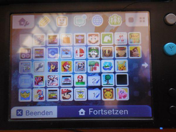 Nintendo 2DS XL mit vielen
