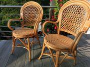 Bambus Rattan Bistro Stühle