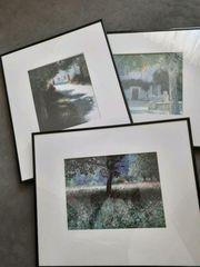 3 handsignierte Bilder Lutz Münzfeld