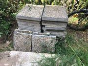 Retro Waschbetonplatten zu verschenken 60x40x5cm