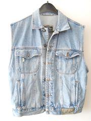 Jeans Jacke ärmellos Größe M