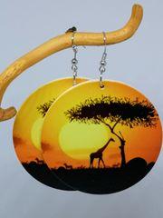 Ohrringe Große Holzräder AFRICA ETNO