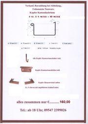 Kupfer-Kastendachrinne