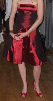 Cocktailkleid Größe 36 S rot