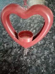 Rotes Deko Herz für ein