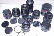 Minolta Objektive 50mm 28mm 135mm