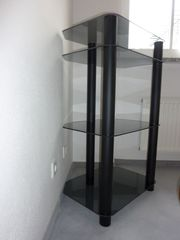 TV Hifi-Rack Regal schwarz Metall