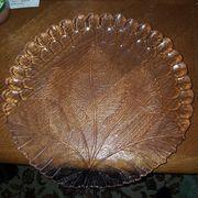 Obst Glasschale mit großen Blattmuster