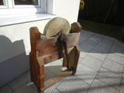 Schleifbock Schleifstein sehr alt