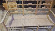 rustikale Sitzbank Bauernbank aus Holz