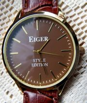 Angesagte Armbanduhr Edelstahl rose goldfarbig