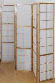 Paravent Raumteiler 6 teilig Holz