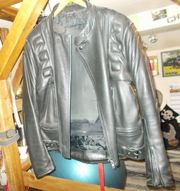 Motorradlederjacke Biker Größe 58