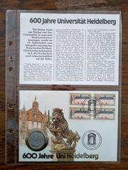 600 Jahre Universität Heidelberg NUMISBRIEF