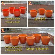 Übertöpfe Blumen orange-Töne Scheurich