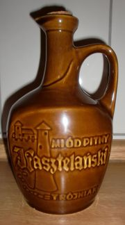 Keramik-Flasche Honigwein Kasztelanzki Deko leer