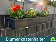 Blumenkastenhalter f Doppelstabzaun Blumenkasten 80cm