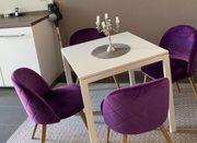 4 Esszimmer-Stühle im Retro-Style