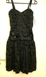 wunderschönes schwarzes Cocktailkleid Größe 38