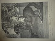 Reiter-Gemälde Nachdrucke Pferdegangarten auf Büttenpapier