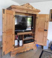Fernsehschrank Voglauer braun Fernsehkonsole ausfahr-