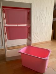 Kinderzimmer Regal m 3 Behältern
