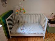 Babybett weiß 60x120 cm Mit
