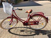 Hollandrad Spezial Design rot fast