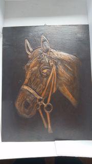 hübsches altes Pferde-Relief-Bild
