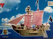 Holz Piratenschiff inkl Zubehör und