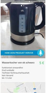 Wasserkocher von ok schwarz