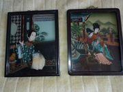 Chinesische Hinterglasmalerei China Glasmalerei
